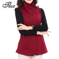 TLZC 뜨거운 판매 오피스 레이디 패션 재킷 플러스 사이즈 M-4XL 코튼 소재 브랜드 새로운 여성 정장 재킷