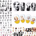 2017 new 12 sheets beauty Marilyn Monroe Nail Art Water Transfer Sticker DIY Nails Accessories manicure tools decals A481-492