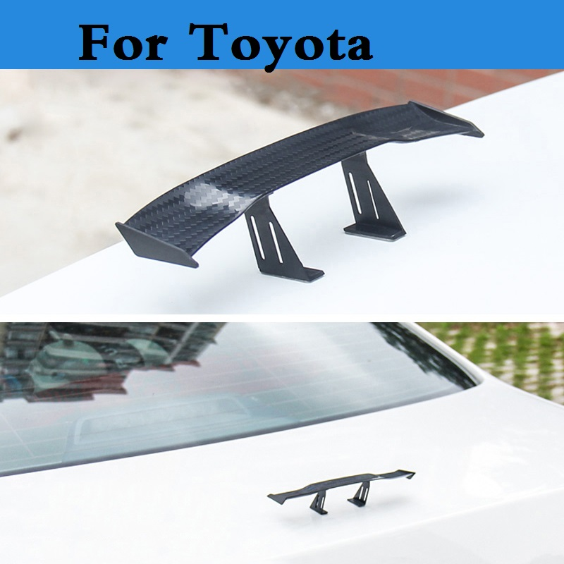 Auto Small Model Rear Spoiler Mini Spoiler Wing Sticker for Toyota Camry Solara Celica Celsior Century Corolla Corolla Fielder special car trunk mats for toyota all models corolla camry rav4 auris prius yalis avensis 2014 accessories car styling auto