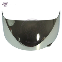 1 Pcs Chrome Motorcycle Full Face Helmet Visor Shield Case for AGV GP Pro S4 Airtech Stealth Q3 Titec