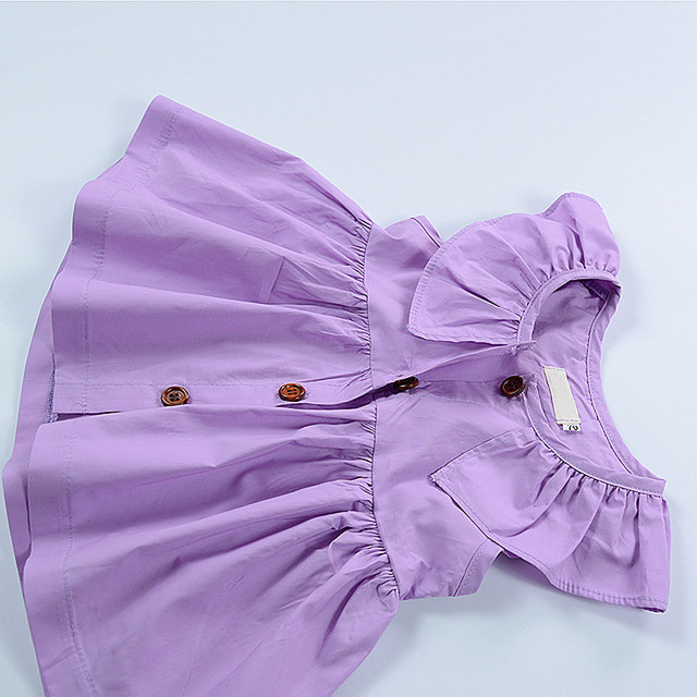 online shop infant girl dresses solid cotton baby dress nordic style