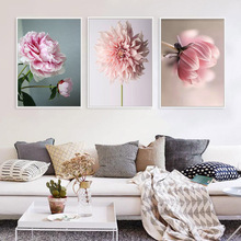 Nordic Spray Poster Blush Poney Beauty Canvas Painting Life Flowers Art Posters And Prints Decoration Wall Pictures Unframed