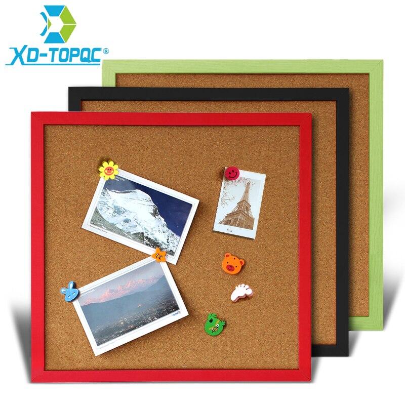 35*35cm Cork Board Bulletin Board Message Boards Wooden Frame Pin Memo Board For Notes Multicolor 11 Colors Decorative Board