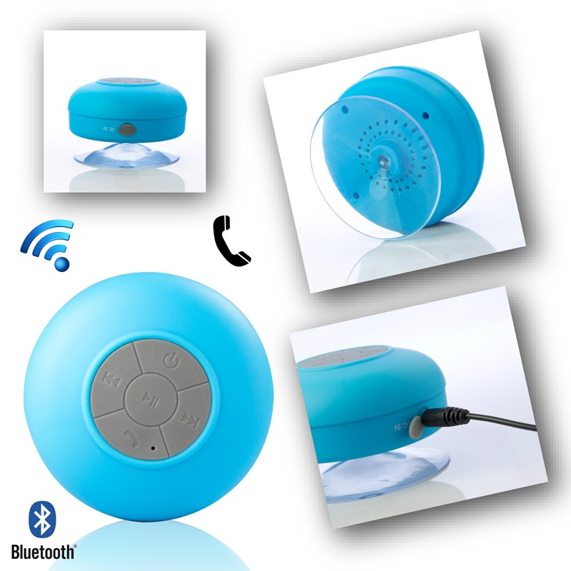 Original BTS 06 Bathroom Waterproof Mini Portable Speaker Stereo Wireless Bluetooth  Speaker Handfree Call For