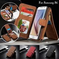 CaseMe Leather Case For Samsung S6 S7 Edge S8 S9 Plus Note 8 5 Flip Wallet
