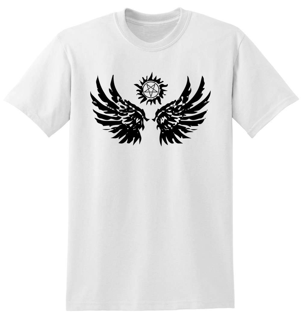 Design t shirt hand made -  Design Stylish Hand Made Men T Shirts Supernatural Wings Download