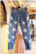 2016 весна новый горячий продажа звезда dot джинсы женские брюки бесплатная доставка