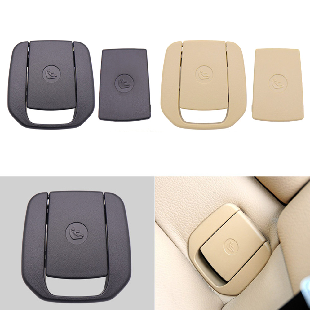 Car Rear Seat Hook Cover Child Restraint For For BMW X1 E84 3 Series E90/F30 1 Series E87 Black / Beige