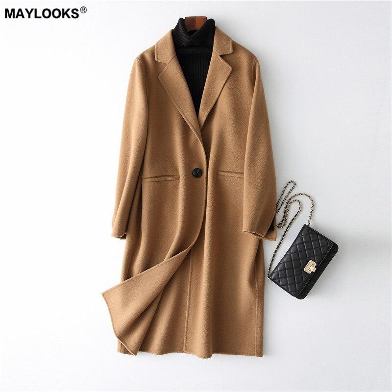 38052 2018 Maylooks Fourrure bleu Beige Manteau camel Mode Nouvelle De dAqxYqRa