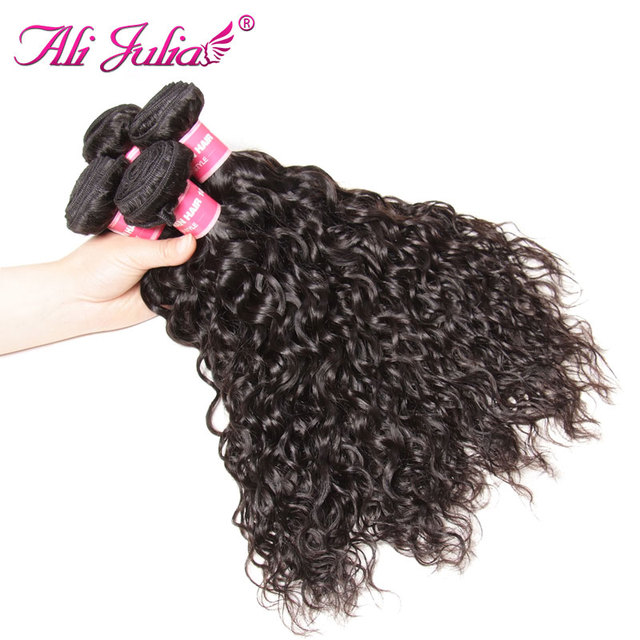 Ali Julia Hair Peruvian Water Wave Hair Bundles 100 Human Hair