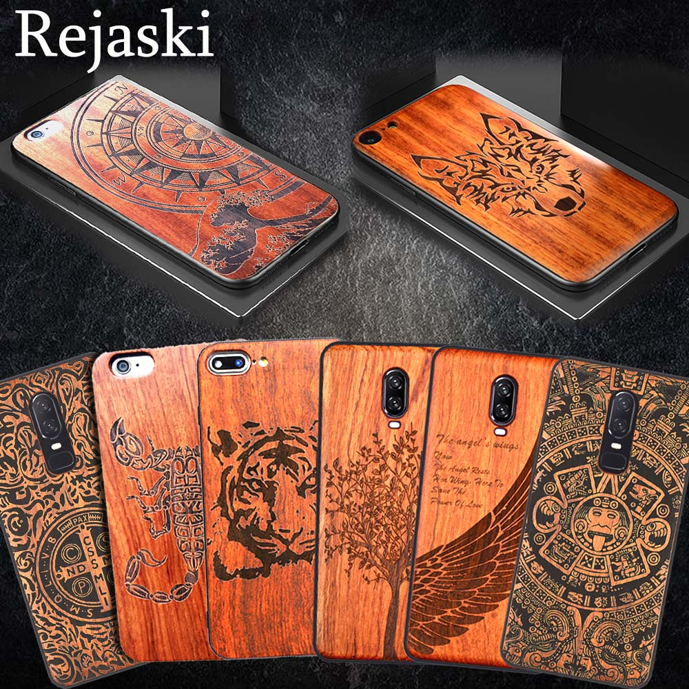 Rejaski Wooden Wolf Luxury For OnePlus 5 5T Five Bamboo Wood PC TPU Totem Cover Case For Oneplus 6T Oneplus Six Phone CasesRejaski Wooden Wolf Luxury For OnePlus 5 5T Five Bamboo Wood PC TPU Totem Cover Case For Oneplus 6T Oneplus Six Phone Cases
