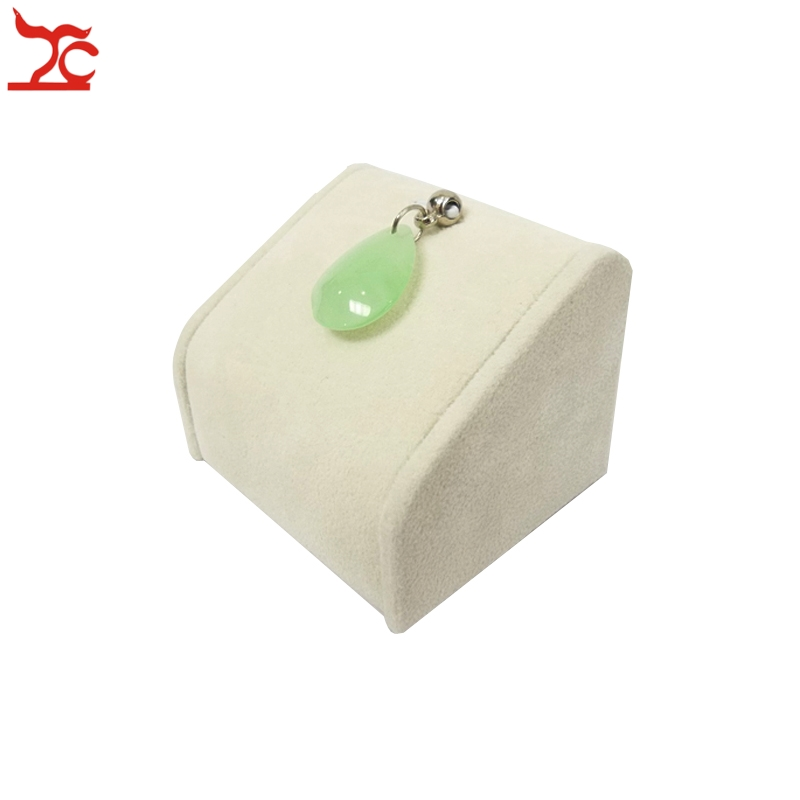 Small Exhibition Stand Sizes : High quality small size 5cm heigh jewelry display tower beige velvet