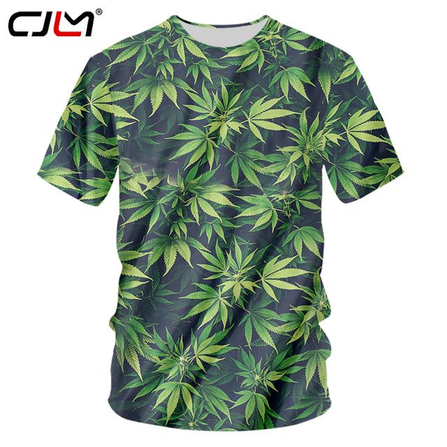 Green Leaves Printed T-shirt