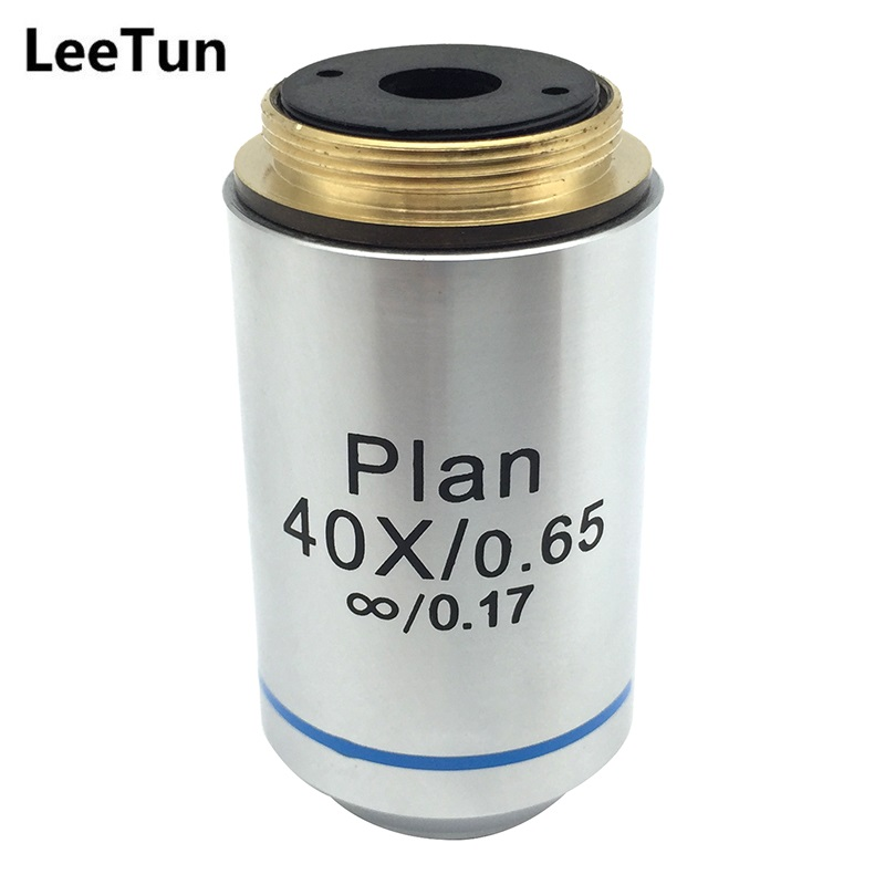 LeeTun 40X Optical Infinity Plan Objective Lens for Professional Biological Microscope DIN 45 mm RMS Mounting Thread 40X/0.65 brand new microscope achromatic objective lens 4x 10x 40x 100x set free shipping