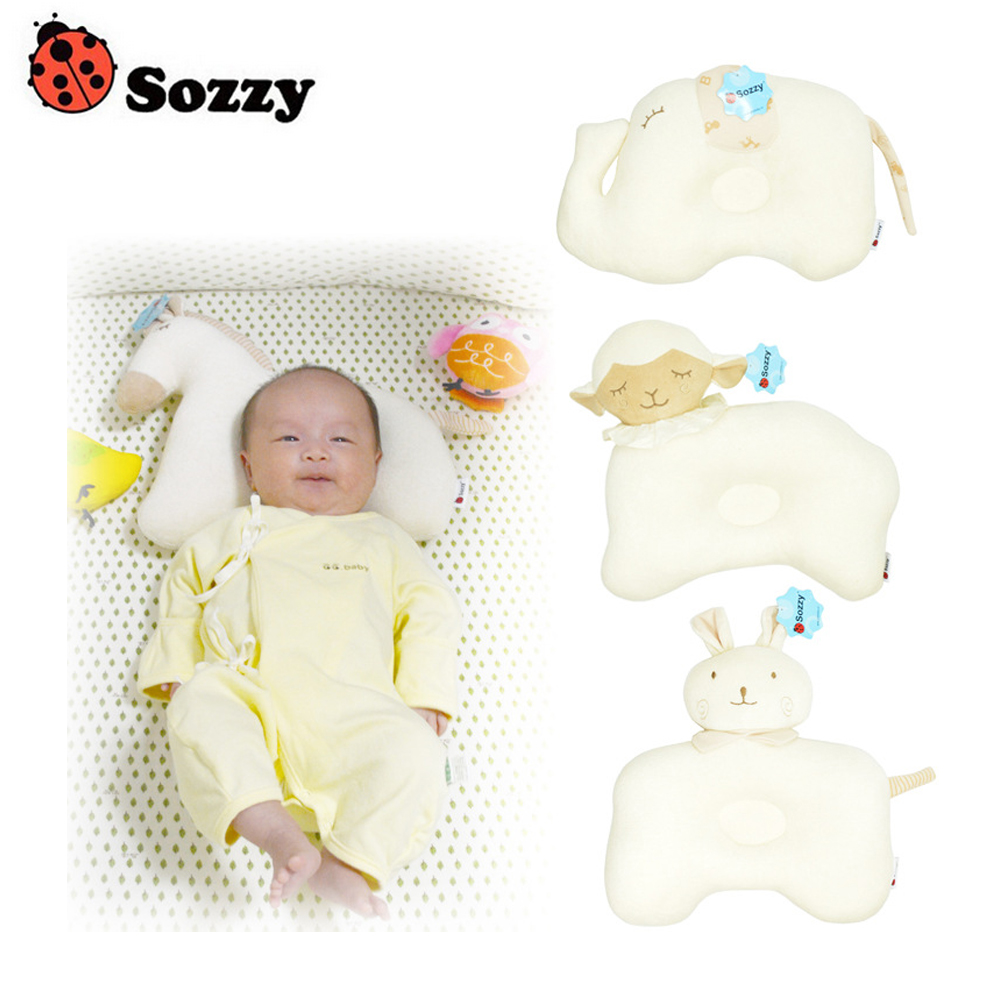 1pcs Sozzy Brand Cute Cotton Cartoon Baby Neck Pillow Newborn Bedding Kids Nursing Pillow Memory Foam Pillow For Children