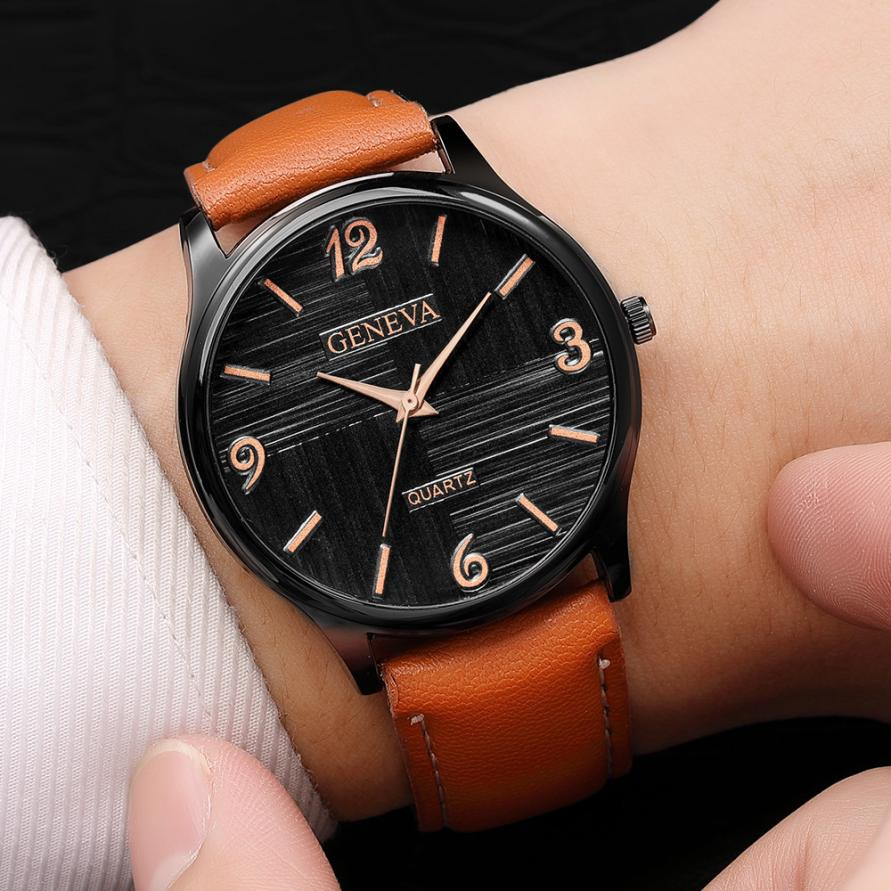2018 New Simple Luxury Men's Quartz Wrist Watches Leather Watch Strap Analog Slim Dial Casual Business Watch Erkek Kol Saati