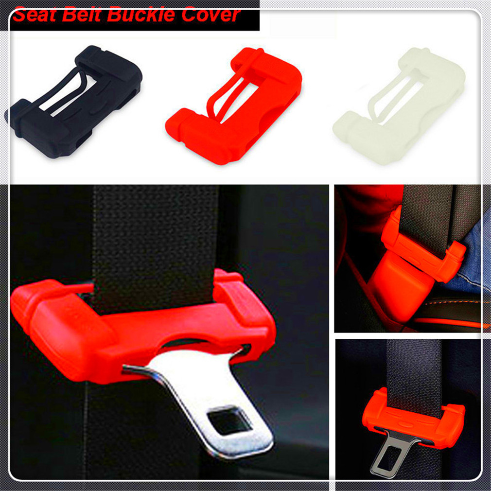 Car Seat safe Belt Buckle Silicon rubber Cover For Peugeot 206 307 406 407 207 208 308 508 2008 3008 4008 image