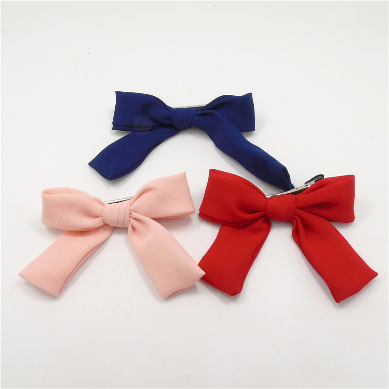 PINK hair clips bows clips Red Bow Hair Clips Baby Girl school bow clips PINK