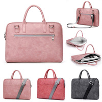 2018 Wen Women PU Leather Laptop bag For 13 14 15 inch For macbook air 13 Universal Laptop Notebook portable Shoulder Bag Pouch