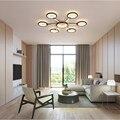 Современный светодиодный потолочный светильник креативный простой коричневый спальня гостиная потолочный светильник Внутреннее освещен...