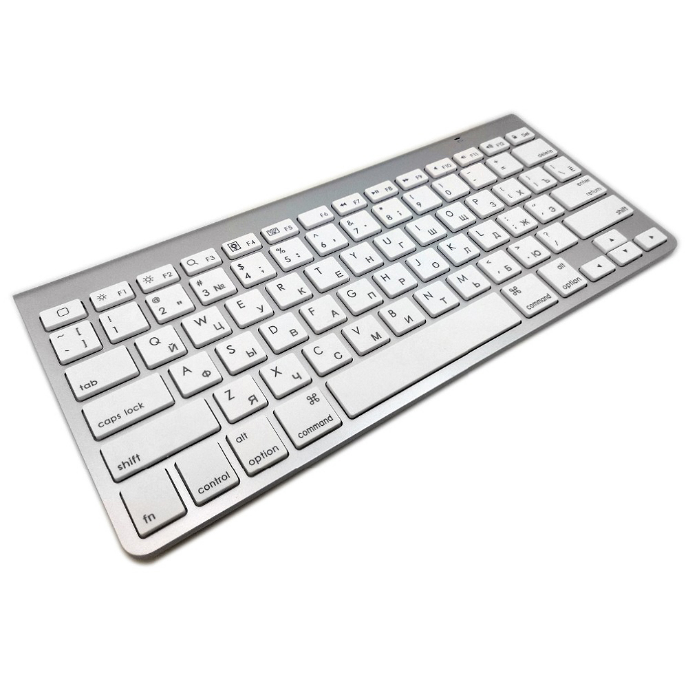 Russian Hebrew Spanish Ultra-Slim Mute Bluetooth Keyboard Scissor Wireless Keyboard For Wireless Apple Keyboard Style IOS WIN