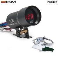 37MM Digital Smoked Objektiv Abgas Temperatur EGT Gauge Schwarz Für TOYOTA SUPRA JZA80 2JZ-GE NA 92-00 EP37BKEXT