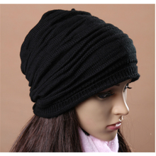 Winter Solid Beanie Hat Wool Kintted Skullies & Beanies Bonnet Novelty Casual Unisex Acrylic Skull cap