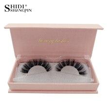 SHIDISHANGPIN 1Box Mink Lashes Hand Made 3D Mink Eyelashes Natural Long Eyelash Extension 1 Pair Make Up False Eyelash #65