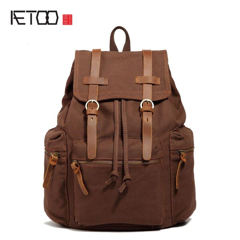 -Color Cotton Canvas Backpack Shoulder Bag Leisure Garden Wind Backpack Female Travel Package Explosion Models