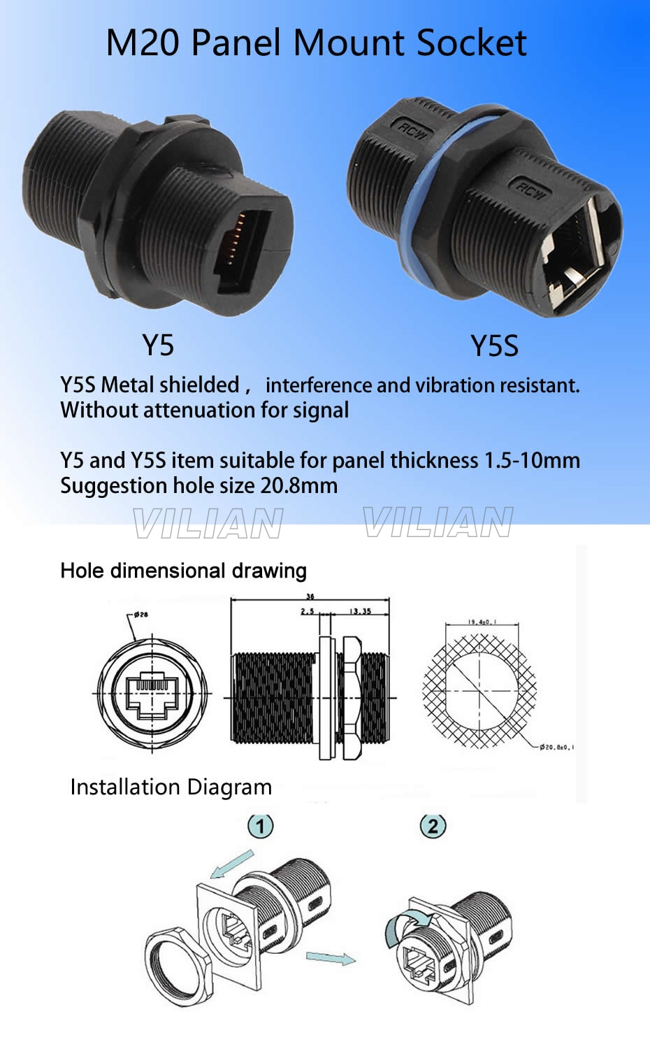 Grade A Quality Rj45 Shielded Panel Mount Connector Ap Box Adapter Wiring Diagram Network Cable Extension Socket Free Shipping 1unit