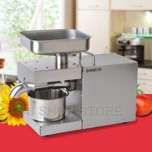 110 В/220 В автоматический пресс для масла, домашний Масляный Пресс, экстрактор семян из нержавеющей стали, мини машина для холодного горячего масла