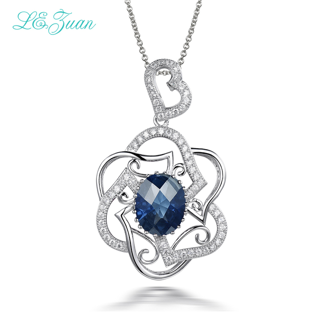 Izuan 468ct blue stone pendant real 925 sterling silver jewelry izuan 468ct blue stone pendant real 925 sterling silver jewelry necklace for women cluster gemstone aloadofball Image collections