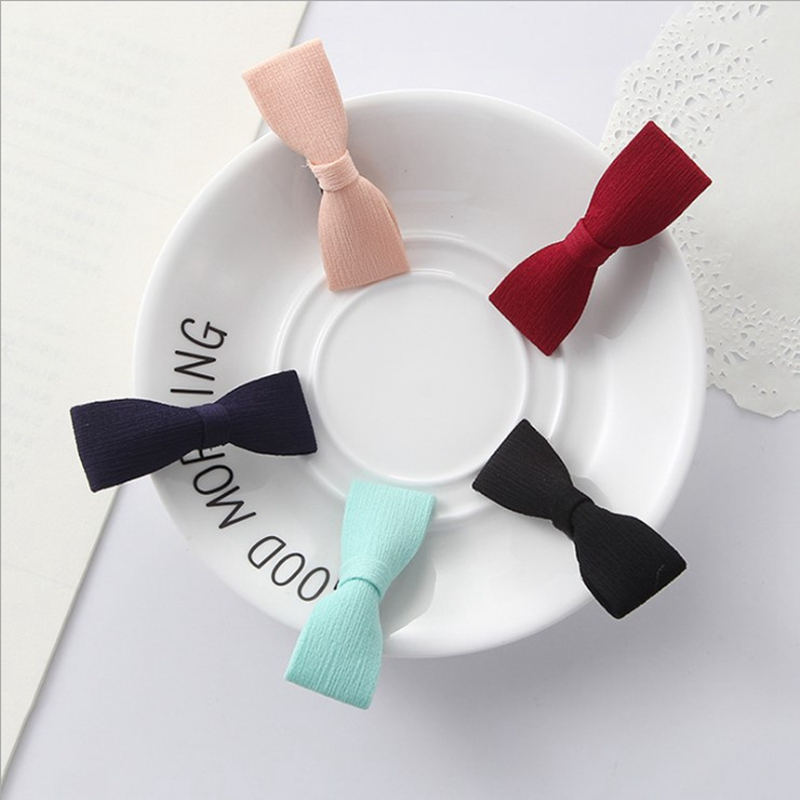 5 Pack bowknot baby girls kids hair clips pin bows headwear hairpin accessories for chil ...