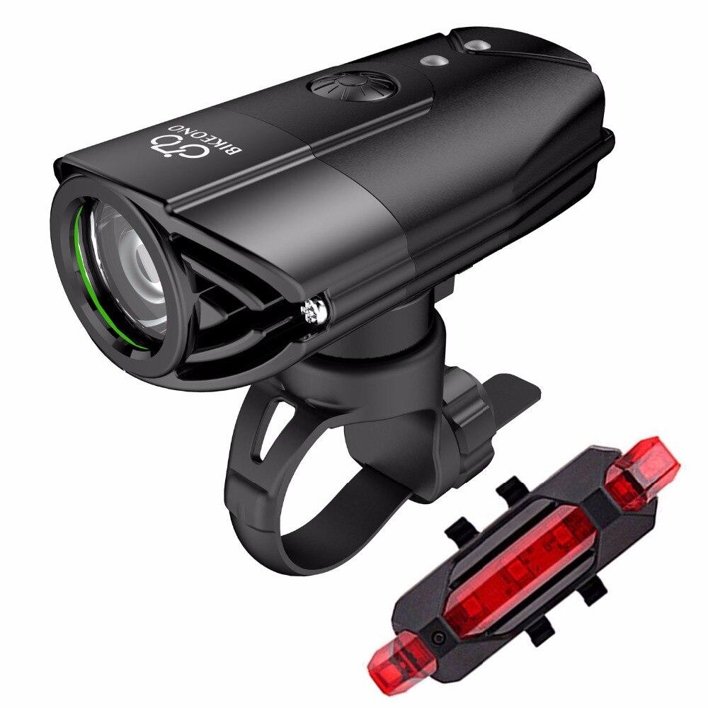 BIKEONO 1200 lúmenes Luz de bicicleta faro delantero LED luz trasera USB linterna recargable MTB ciclismo linterna para lámpara de bicicleta