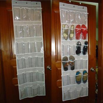24 cepler Arkasında Kapı Ayakkabı Rafı Ayakkabı Depolama Rafı Ücretsiz Tırnak Ayakkabı Tutucu Organizatör Alanı Kaydetmek 3 Kanca Ile