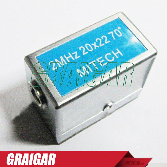 MITECH 70 Degree Angle Beam Probe Transducer 2MHz 20x22MM for MFD350B,MFD500B,MFD620C,MFD650C,MFD800C Ultrasonic Flaw Detector mitech 60 degree angle beam probe transducer 2mhz 20x22mm for mfd350b mfd500b mfd620c mfd650c mfd800c ultrasonic flaw detector