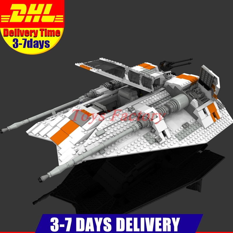 IN Stock Clone 10129 DHL LEPIN 05084 UCS Star Series Wars 1457Pcs The Rebel Snowspeeder Model Building Set Blocks Bricks Toy lepin 05060 star series wars ucs naboo star type fighter aircraft model building blocks bricks compatible legoed 10026 toy gifts