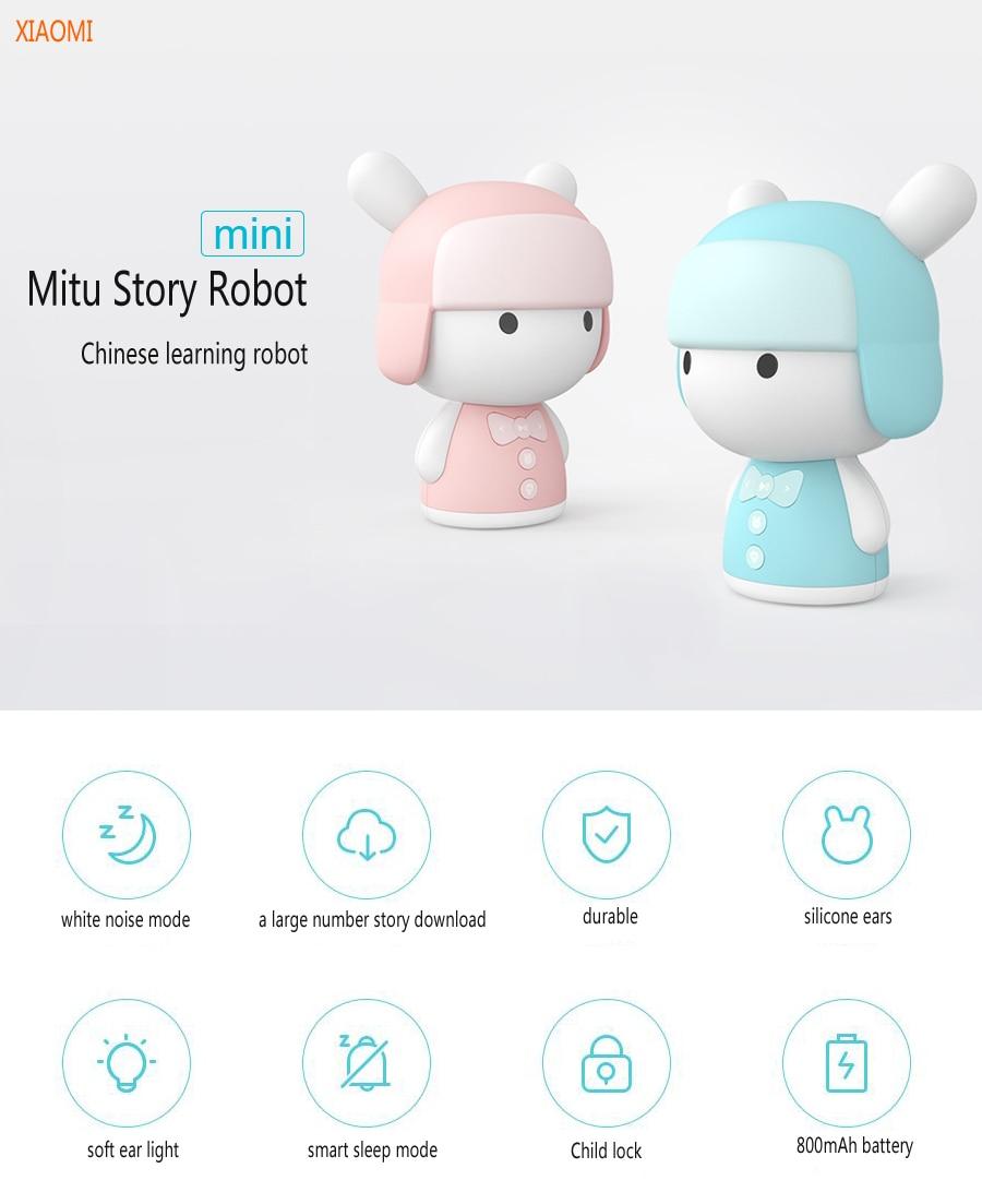 Xiaomi Mitu Mini White Noise Baby Good Sleep Story Robot Pink/Blue Chinese Language Preschool Educational Robot xiaomi mitu intelligent story robot fairy tale happy children s songs english enlightenment rabbit brinquedos educativos