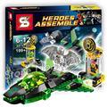 199 ШТ. Бела SY352 DC Comics Бэтмен Зеленый Фонарь против Sinestro Пространства здания Подарок Развивающие Игрушки Совместимо С Lego