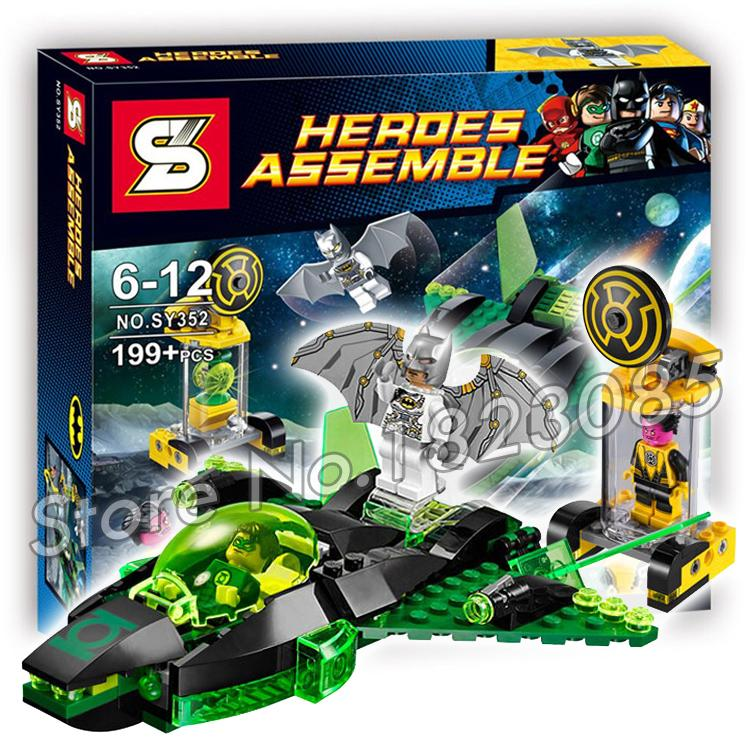 199PCS Batman Bela SY352 DC Comics Green Lantern vs. Sinestro building Space Gift Educational Toys Compatible With Lego geoff johns green lantern vol 1 sinestro the new 52