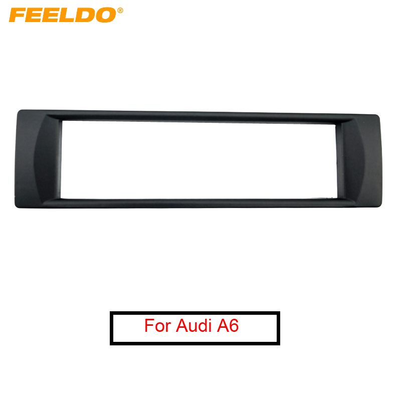 B6 For AUDI A4 2000-06 Car Stereo Radio Fascia Dash Panel 1 Din Frame Trim Kit