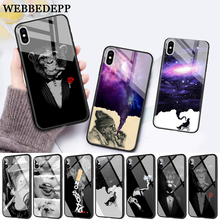 WEBBEDEPP Cigarette Smoking  Protector Glass Phone Case for Apple iPhone 11 Pro X XS Max 6 6S 7 8 Plus 5 5S SE