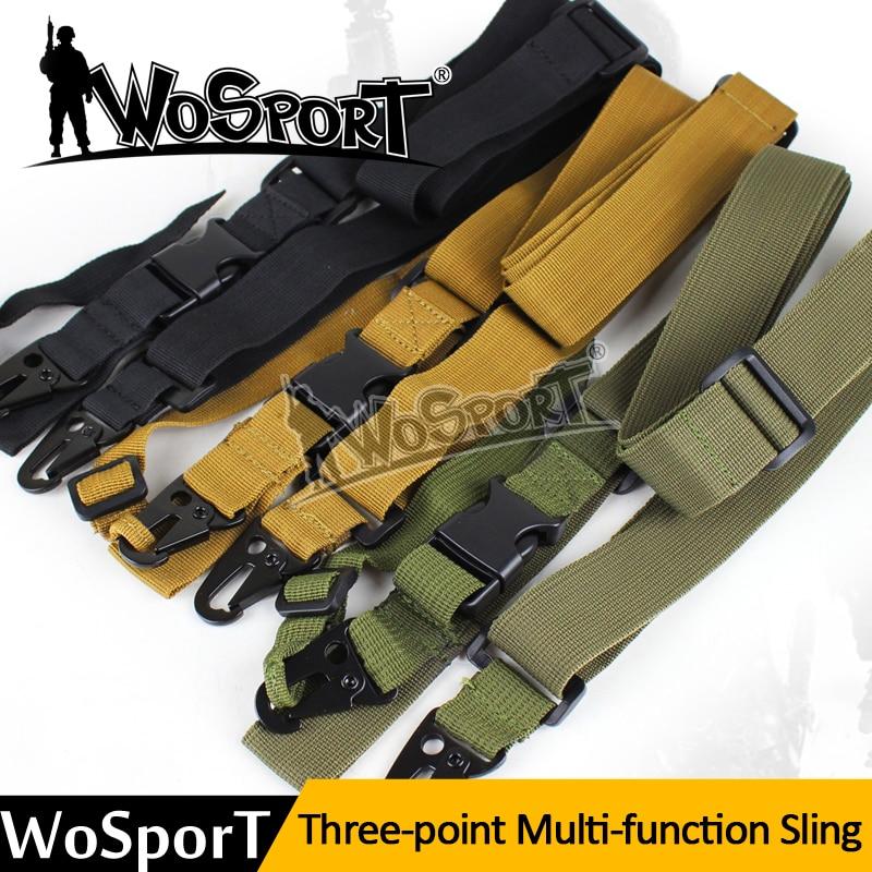 WOSPORT Venta Caliente de Tres Puntos Bungee Tactical Rifle Sling Ajustable Corr