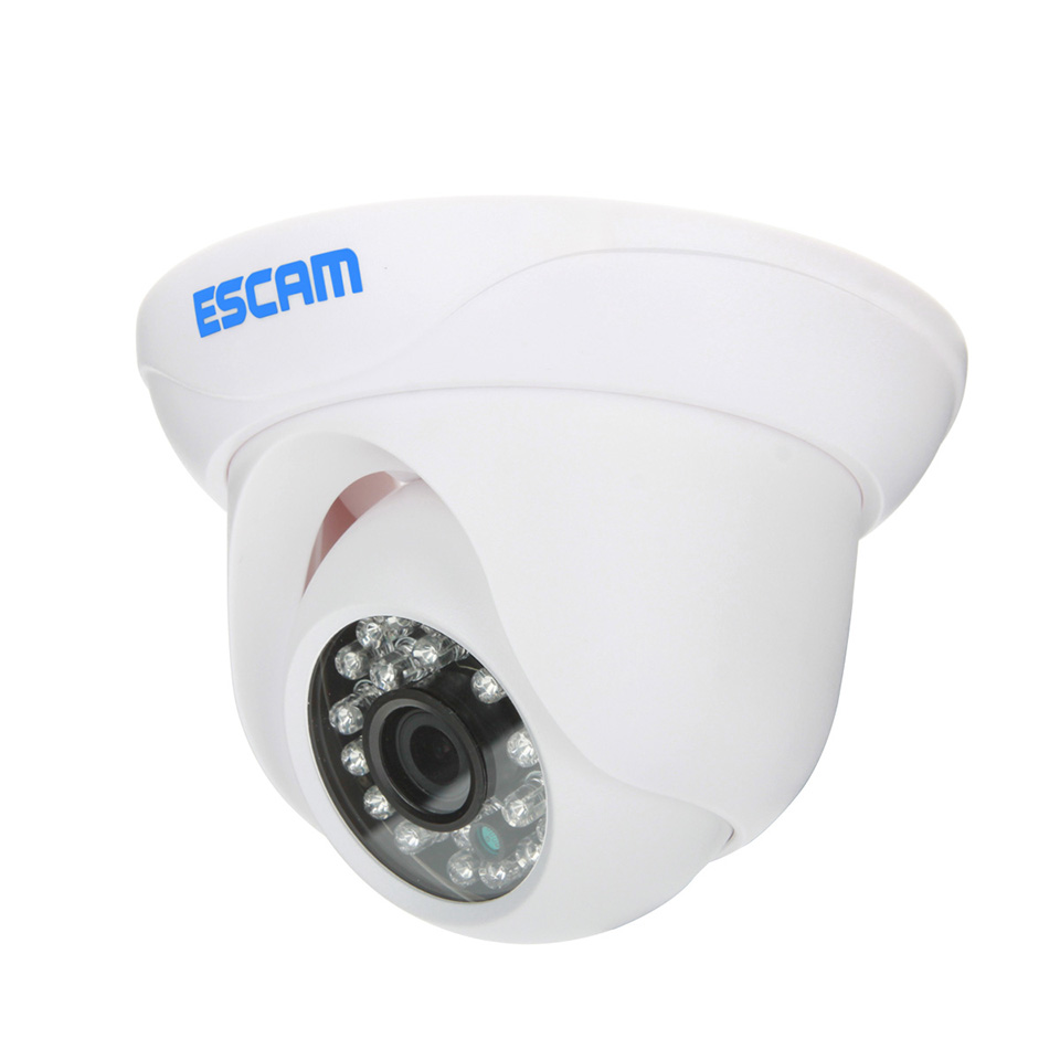 720P Waterproof IP Cam Escam Snail QD500 network camera 1/4 1.0 Megapixel progressive scan CMOS IR Cut Dome Camera Indoor J0664