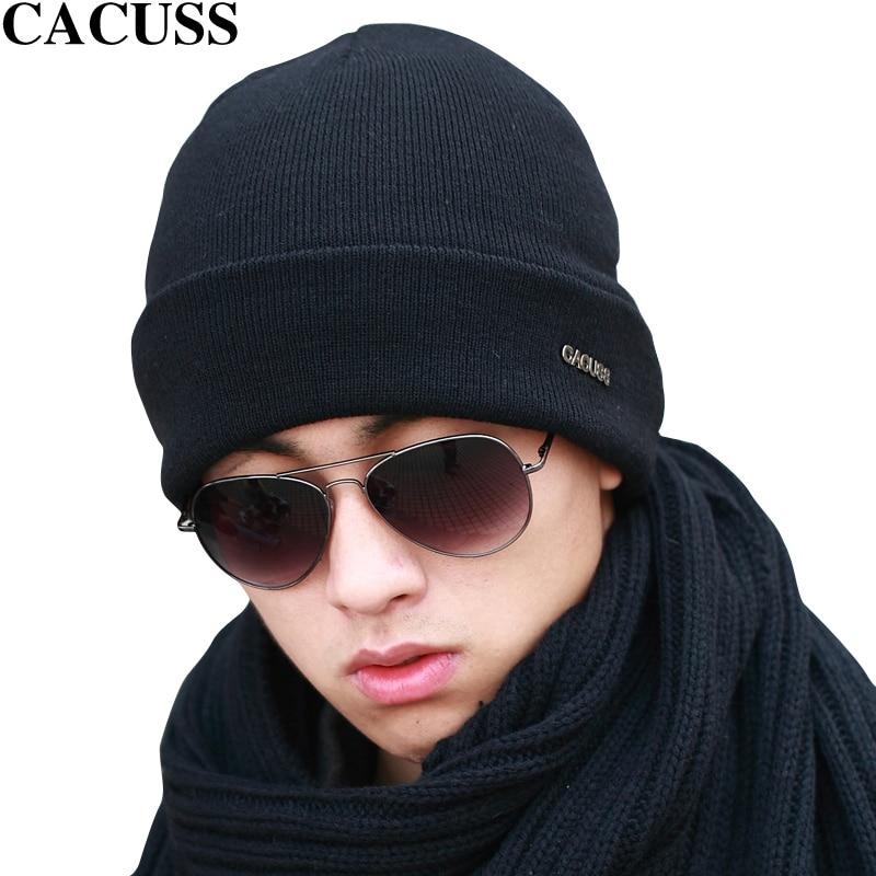 CACUSS Korean Knitted Wool Skullies Men Beanies Spring Casual Caps Luxury Brand 2017 skullies