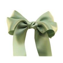 Женская Лук Заколки для волос Хвост Держатель Зеленый