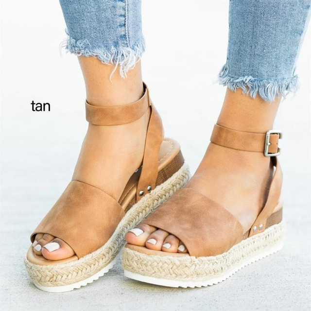 Women Sandals Plus Size Wedges High Heels Sandals Summer Shoes 1