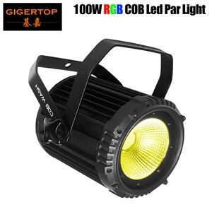 TIPTOP Новый светодиодный COB Par Светильник 100 Вт высокомощный алюминиевый 3 в 1 RGB Dj Disco DMX светодиодный светильник для промывки луча стробоскопич...