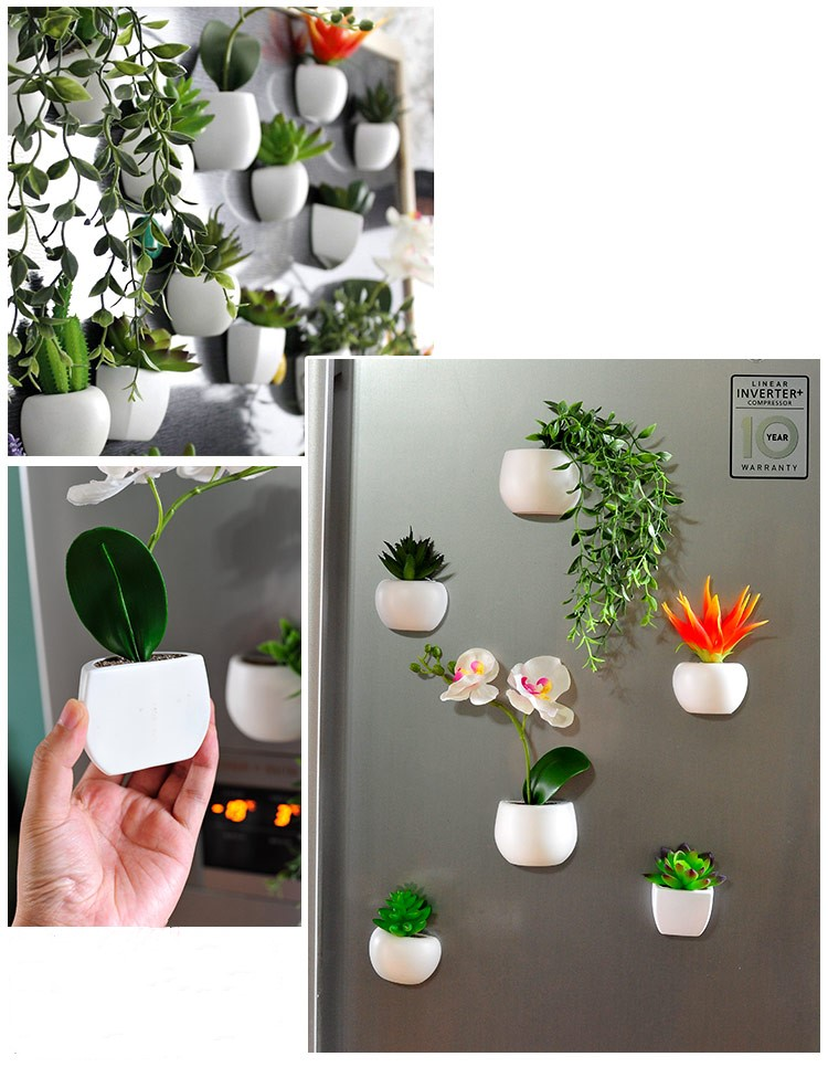 Bonsoplant Fridge Magnets Potted Artificial Green succulent Bonsai plants HTB1f7YJhvImBKNjSZFlq6A43FXad fridge magnets