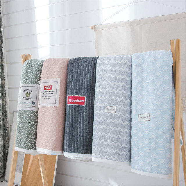 40% Cotton Thin Portable Quilt Soft Throw Summer Blanket Beauteous Lightweight Cotton Throw Blanket